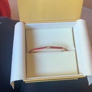 Fendi pink cuff bracelet